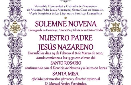 Novena Ntro. Padre Jesús Nazareno